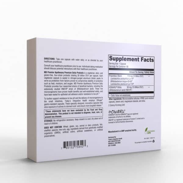 MDPA Premium Daily Probiotic 30 Billion CFU Probiotic